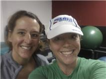 Two overachievers not too happy to be at Pilates